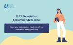 ELTA Newsletter: September 2021