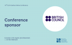 British Council joins as a Platinum Sponsor of the upcoming ELTA Conference