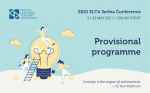 2021 Provisional Conference Programme
